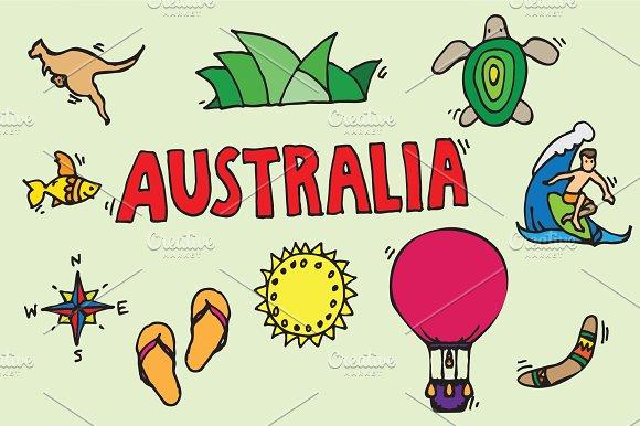 Australia Icons Set Illustrations Creative Market