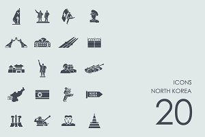 North Korea icons