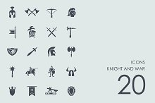 Knight and war icons