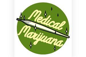 vintage medical marijuana emblem
