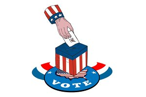 American Election Voting Ballot Box