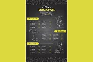 vertical cocktail menu design