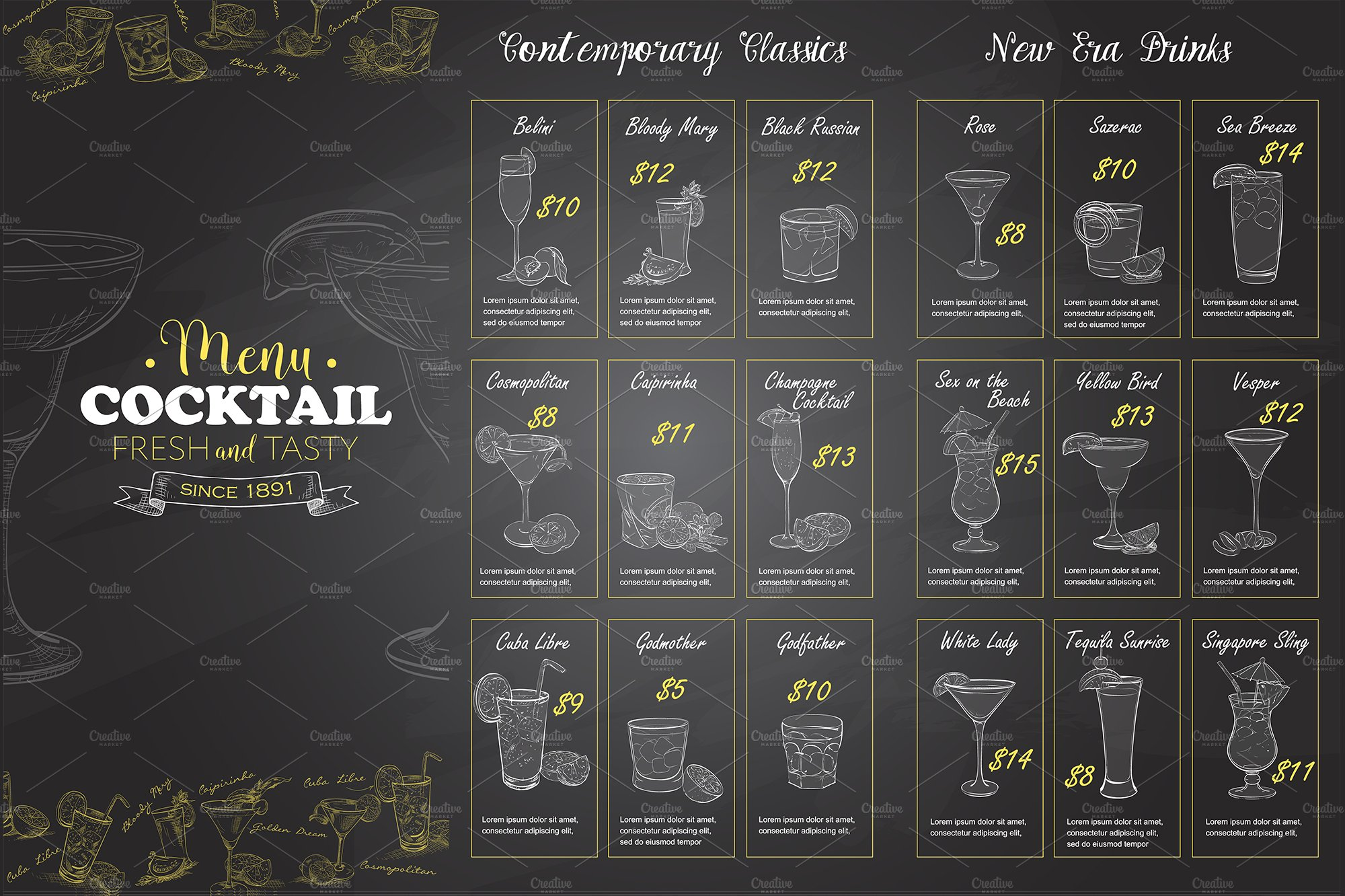 Creative drink menus pictures to pin on pinterest pinsdaddy for Table 52 drink menu