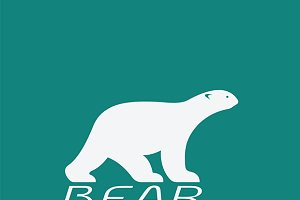 Vector image of an bear white design
