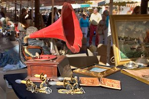 An ancient record player