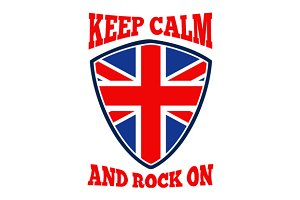 Keep Calm Rock On British Flag