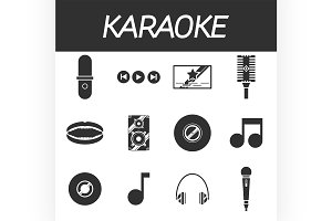 Karaoke icon set