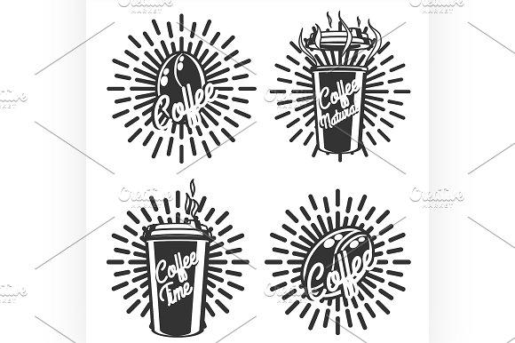 Vintage coffee emblems