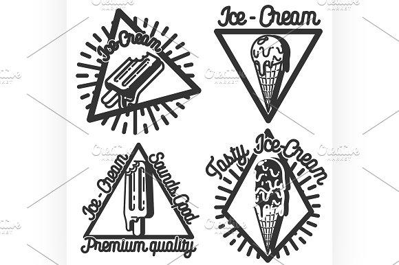 Vintage Ice Cream emblems