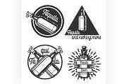 Vintage tequila emblems
