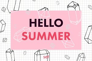 Summer Crystal Vector Set