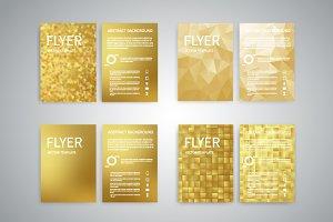 Gold flyers set