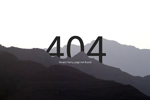 404 Error Page · Sketch & PSD