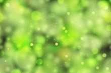 Bright green magic light pattern
