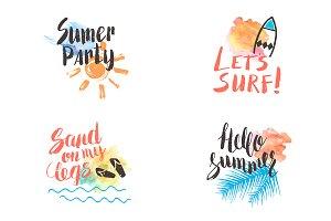Hand lettering summer set