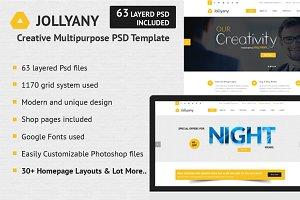 Jollyany - Creative PSD Template