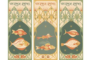vintage labels: fish