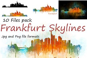 10x files Pack Frankfurt Skylines