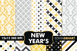 New Year's Eve Digital Papers