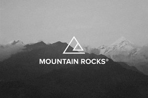 Mountain Minimal Geometric Logo