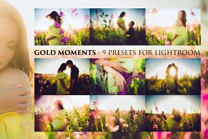 GOLD MOMENTS- 9 presets for LR