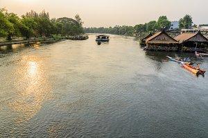 Kwai Yai River at sunset