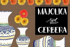 Majolica & Gerbera