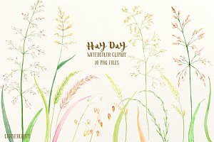 Watercolor Clipart Hay Day