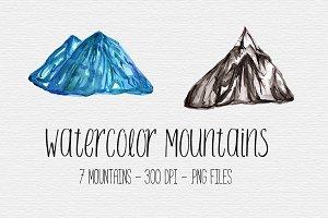 Watercolor Mountain Clipart