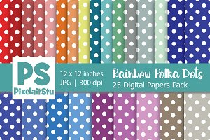 Rainbow Polka Dots Pattern