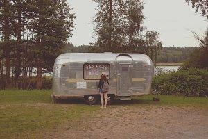 Vintage silver Streamline trailer
