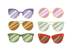 Fashion glasses vector illustration