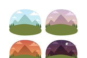 Travel landscapes vector