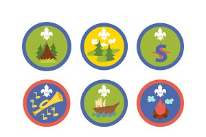 Scout symbols vector set