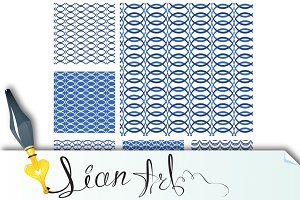 Set of seamless patterns - blue #2