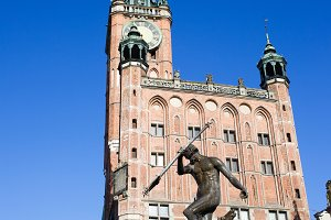 Neptune and Town Hall in Gdansk