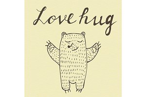 Hugging bear