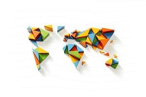 Fragmented World Illustration