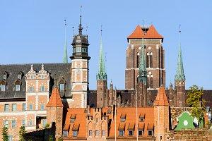 Gdansk Old Town Skyline