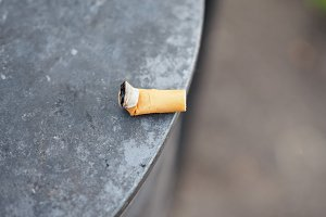 Cigarette butt waste