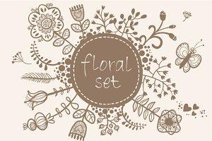 Floral set.