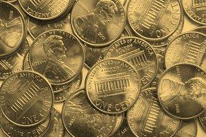 Dollar coins background - vintage