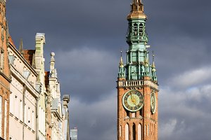 Town Hall Clock Tower in Gdansk