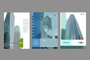 Set of templates for business
