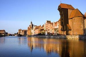 City of Gdansk at Sunset
