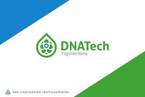 DNA tech logo template