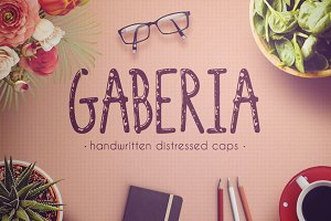 Gaberia Distressed Font