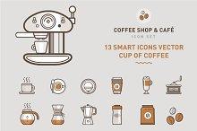 Set of Coffee Shop & Café Symbols