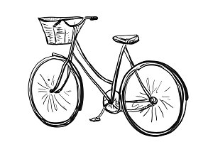 Bicycle sketch. Sport poster