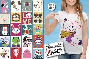 Animal set/Baby Shower/T-shirt Print